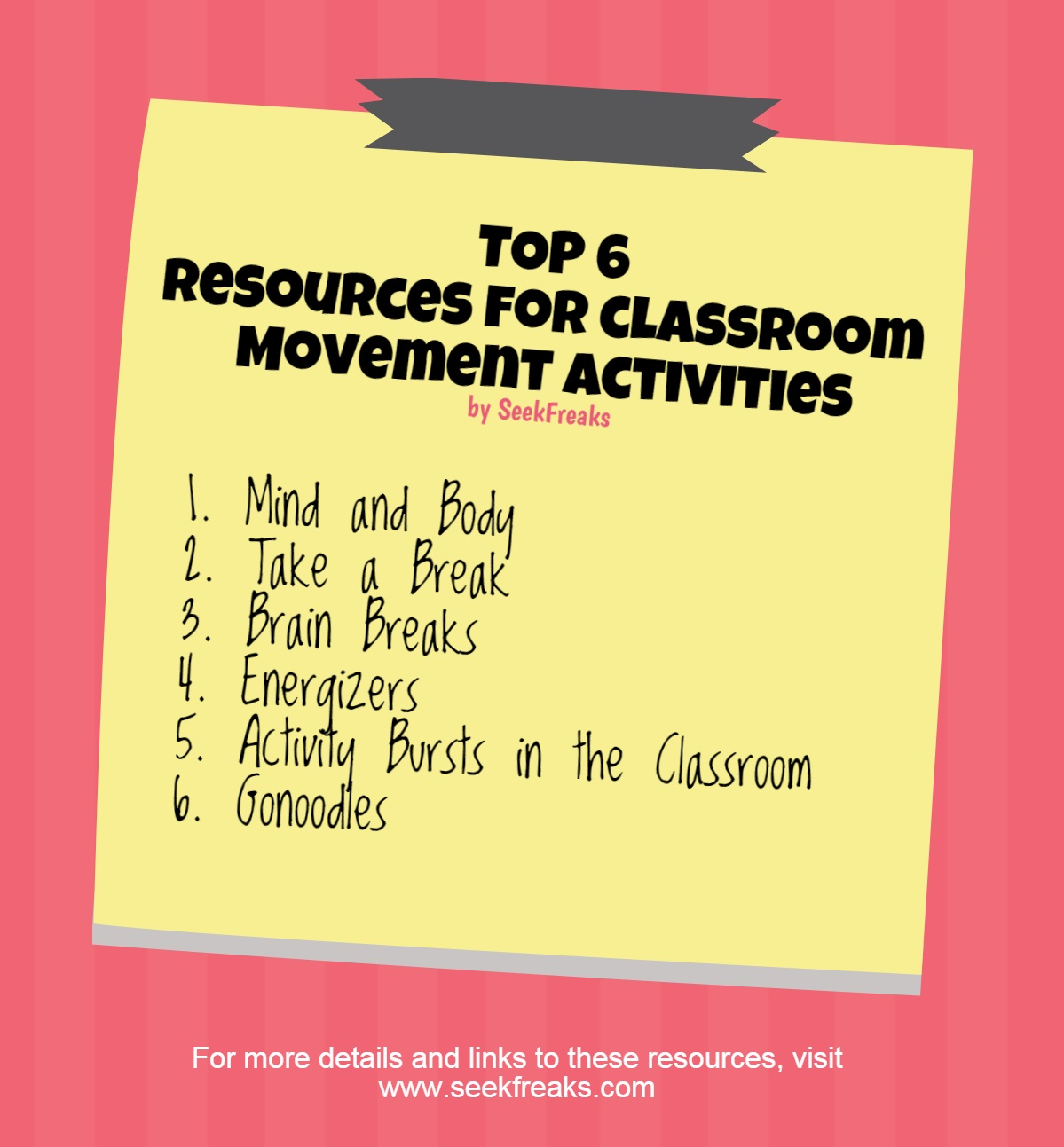 Top 6 Resources for Movement Activities in the Classroom