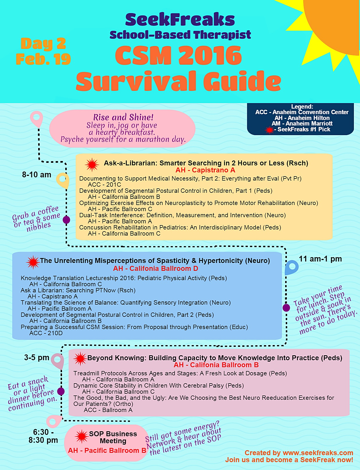 SeekFreaks School-based Therapist CSM 2016 Survival Guide - Day 2
