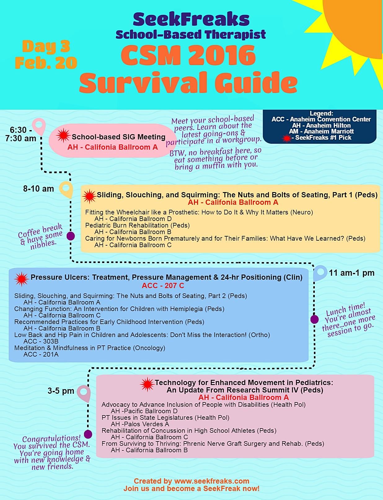 SeekFreaks School-based Therapist CSM 2016 Survival Guide - Day 3
